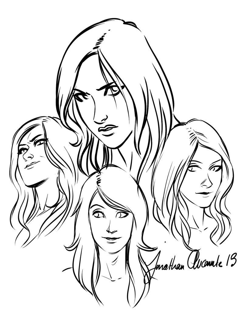 800x1083 Drawn Women Women's Face