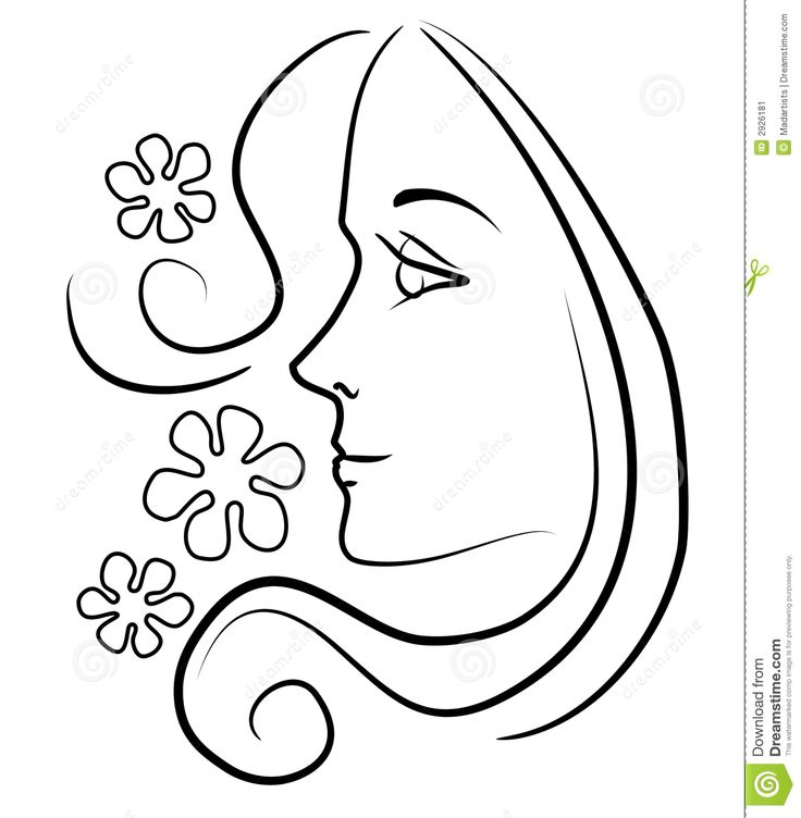 736x752 Line Drawing Face Clip Art