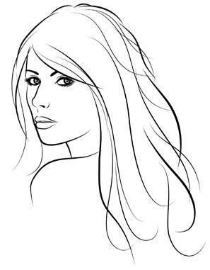 297x381 Photos Simple Woman Face Drawing,
