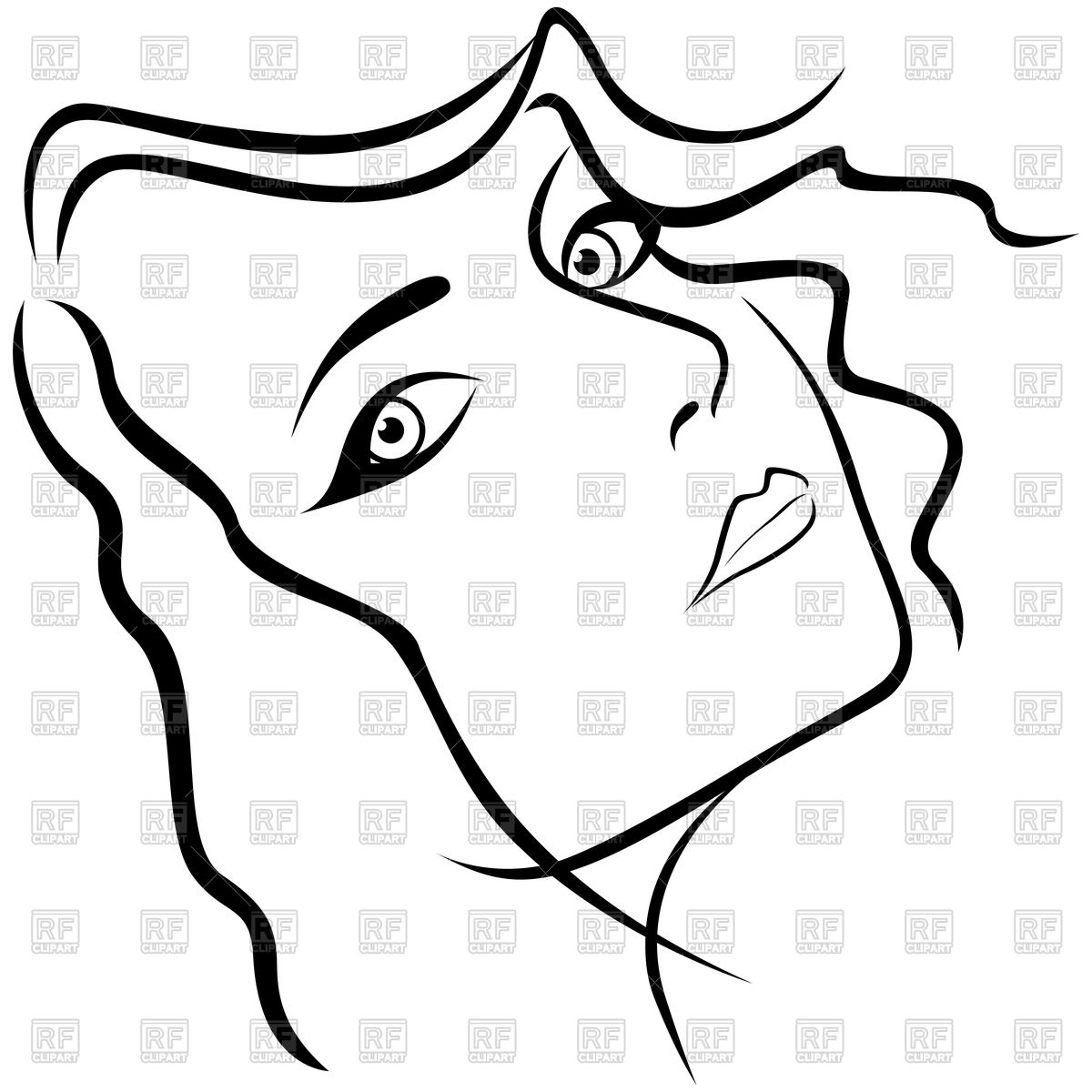 1200x1200 Women Face Sketch Outline Women Face Sketch Outline Face Outline