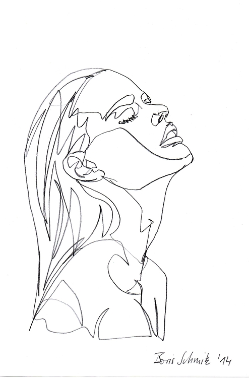494x750 Continuous Line Drawing By Boris Schmitz, 2014 Visual Interest