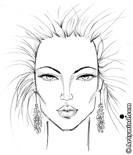 430x500 Face Drawing Template Illustrations Photoshop Amp Painter