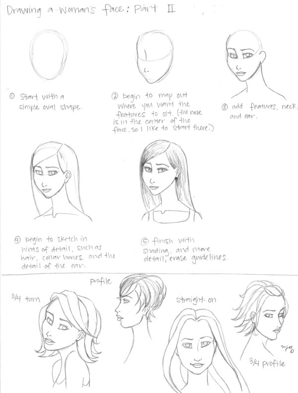 600x792 Woman's Face Tutorial, Part 2 By ~merryjayne