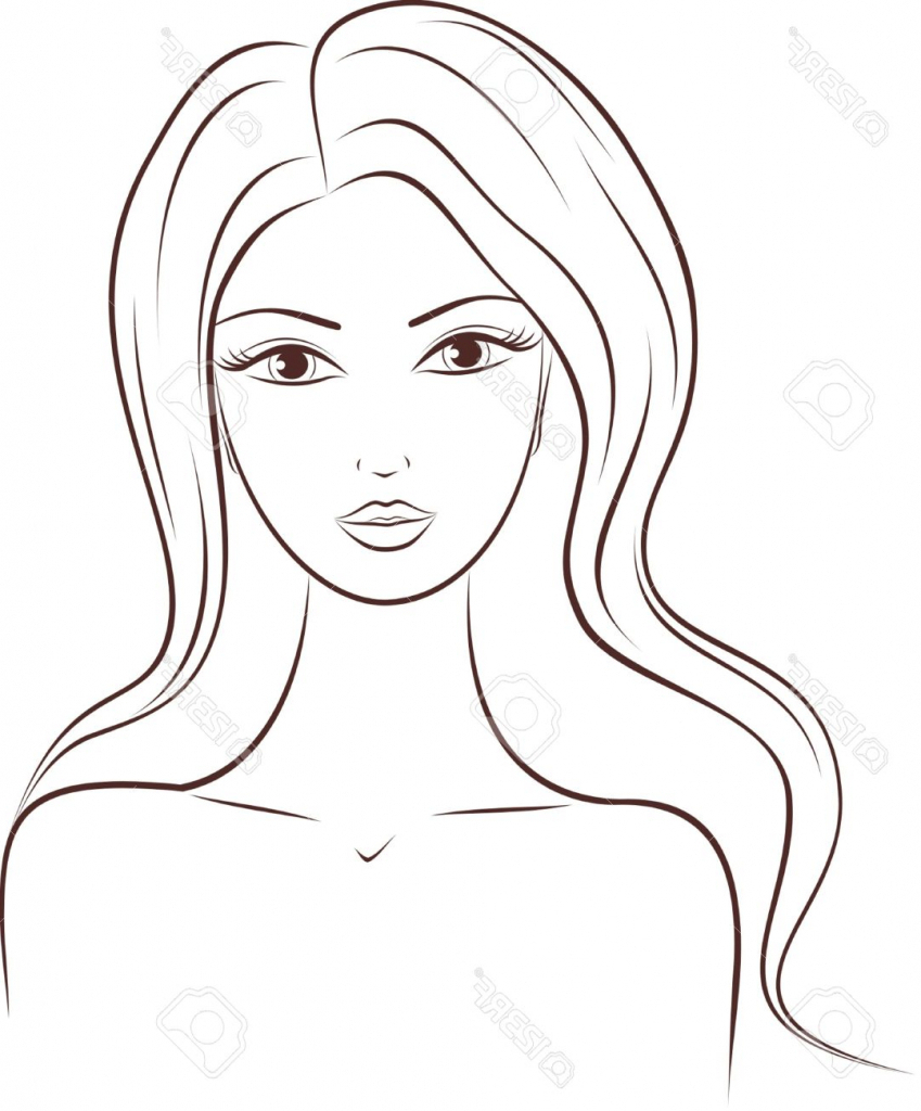 849x1024 Women Face Sketch Outline Female Face Drawing Outline