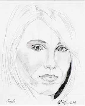 288x360 Drawing The Female Face Using A Photo Image How To Draw A Face