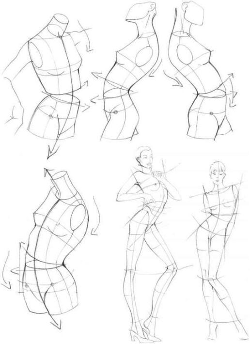 Woman Full Body Drawing
