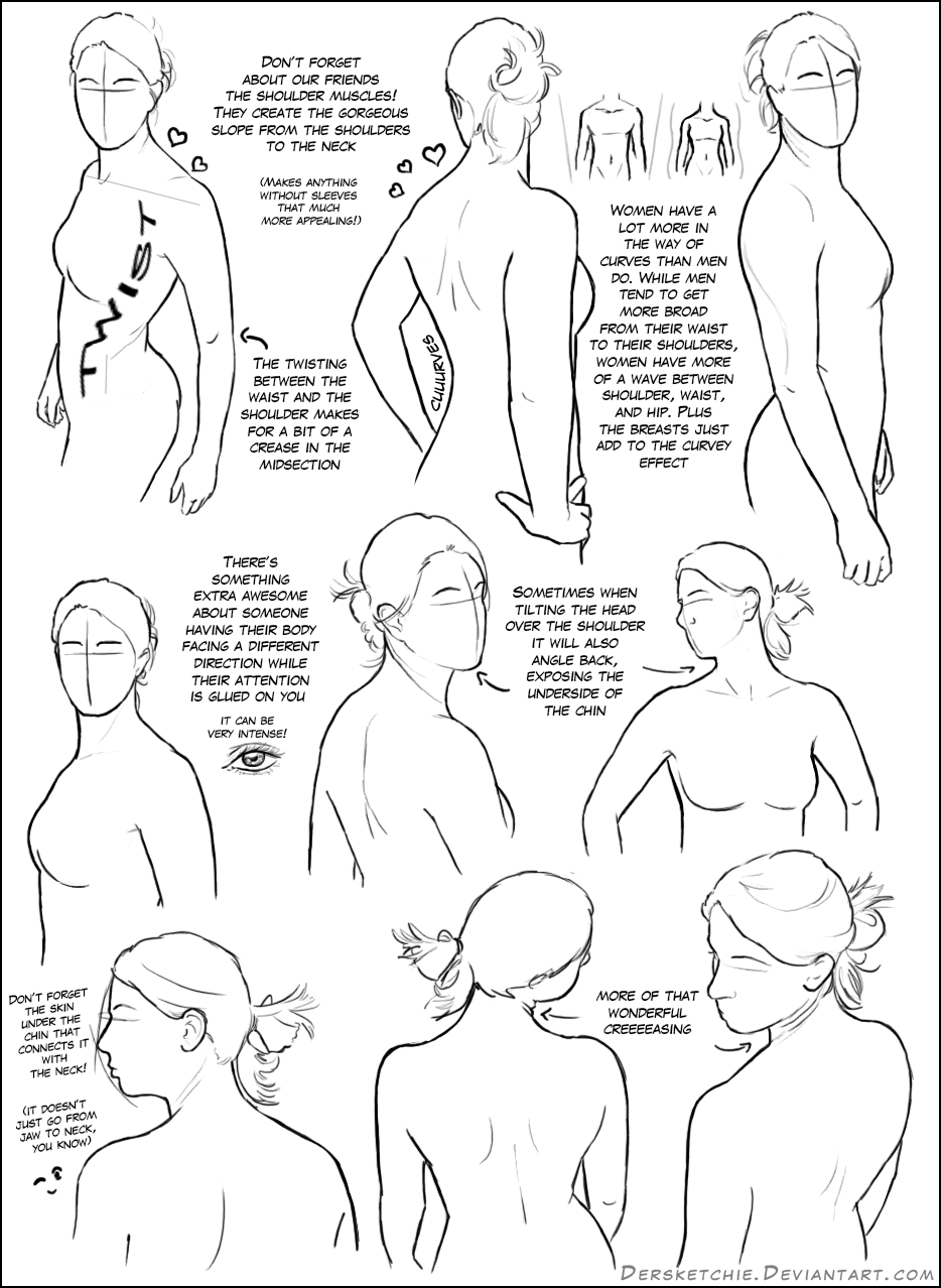934x1278 Over The Shoulder (Female) Tutorial By Dersketchie