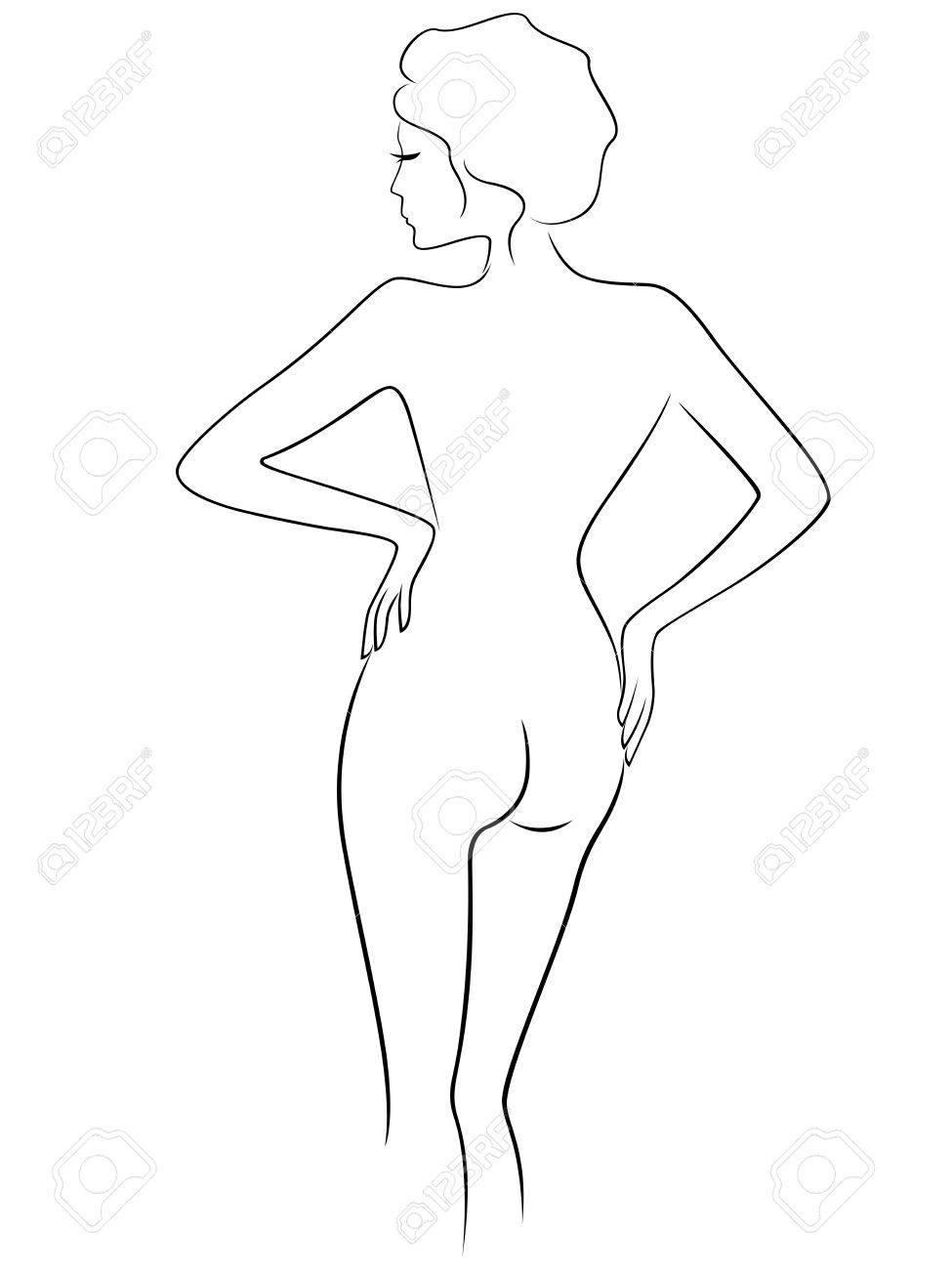 Woman Outline Drawing
