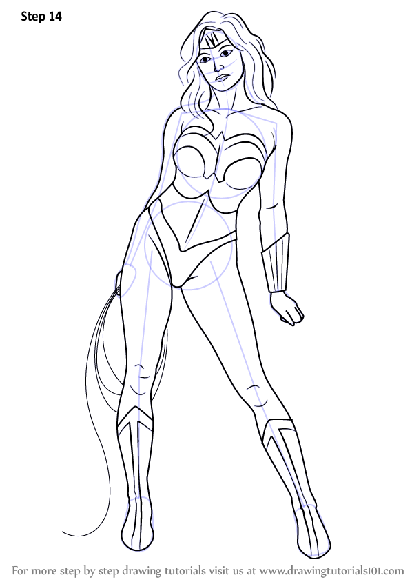 598x844 Learn How To Draw Wonder Woman (Wonder Woman) Step By Step