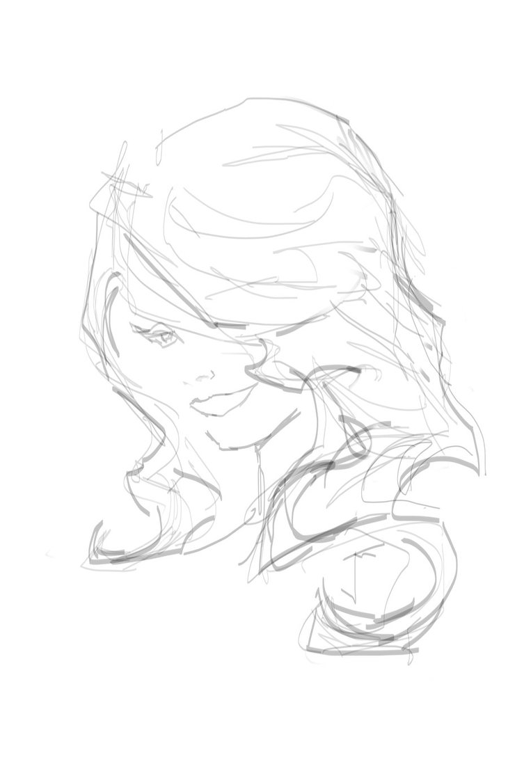 730x1095 Woman Profile Sketch By Joshmackey