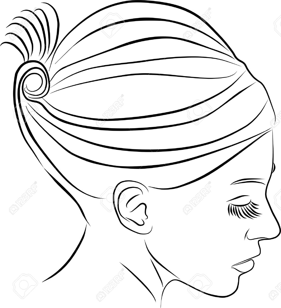 1186x1300 Young Woman Profile Stock Photo, Picture And Royalty Free Image