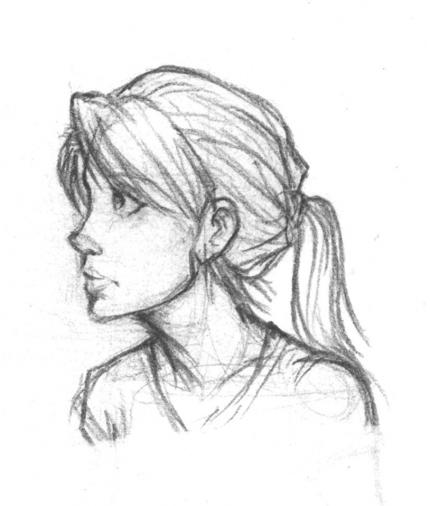 Side Portrait of a Woman by Adonenniel on DeviantArt