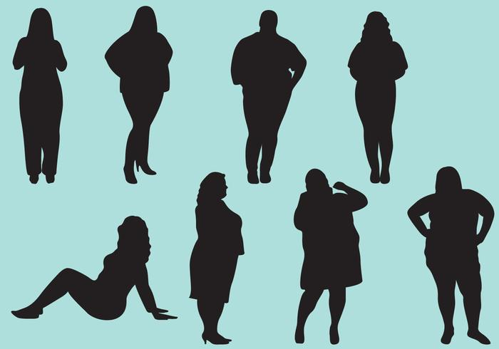 700x490 Fat Woman Silhouettes
