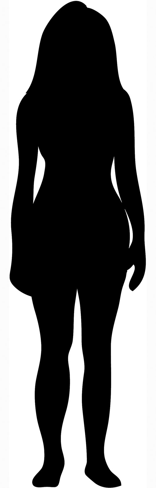 531x1661 Female Silhouette