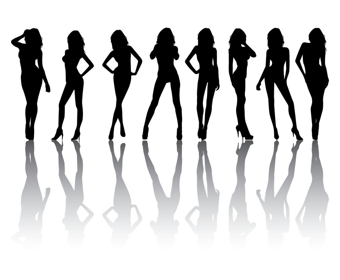 1136x936 Free Woman Model Silhouette Vector Art Amp Graphics