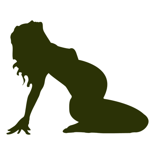 512x512 Pregnant Woman Silhouette In Green