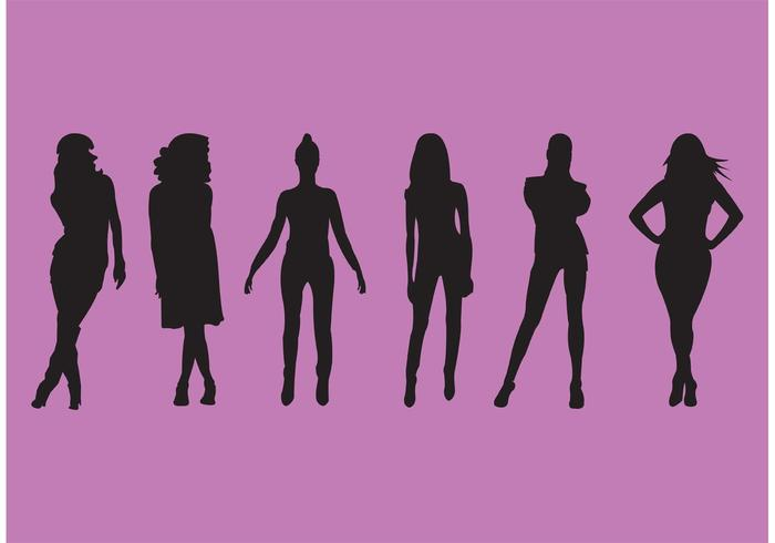 700x490 Woman Silhouette Set