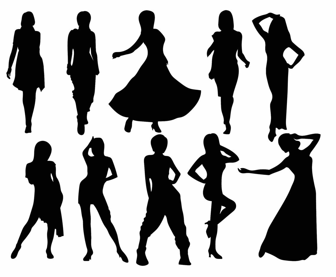 1136x936 Woman Silhouette Set Vector Art Amp Graphics