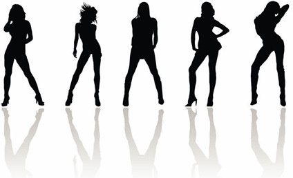 424x258 Woman Silhouette Free Vector Download (7,247 Free Vector)
