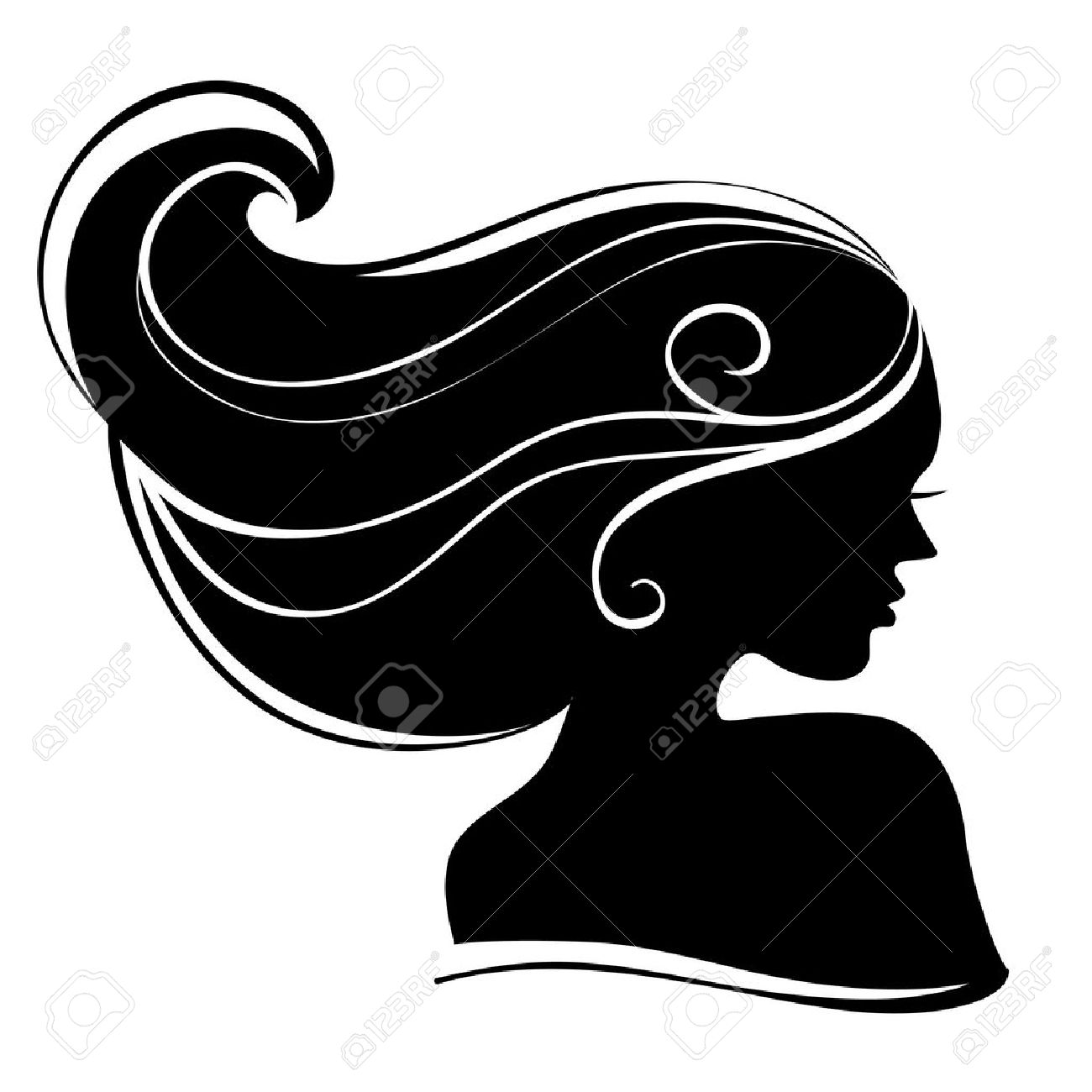 1300x1300 Beautiful Woman Silhouette Royalty Free Cliparts, Vectors,