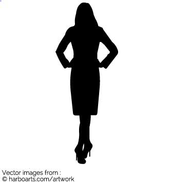 335x355 Download Business Woman Silhouette