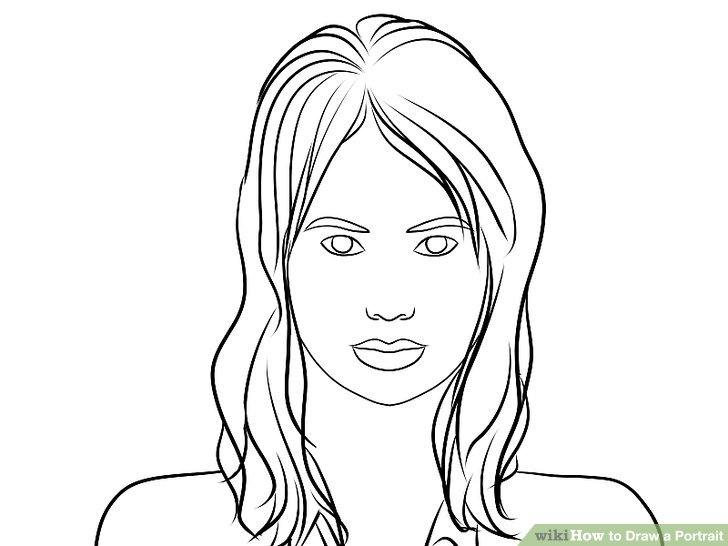 Women Face Drawing