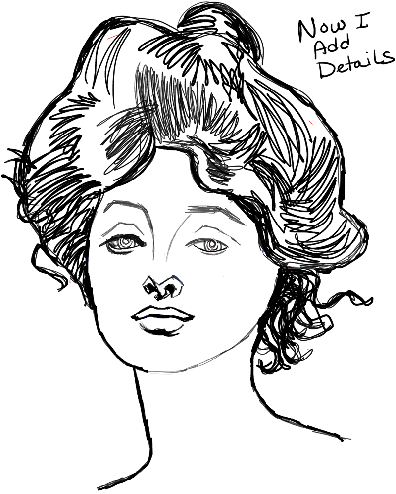 800x999 How To Draw Female Faces With A Beautiful Woman's Portrait