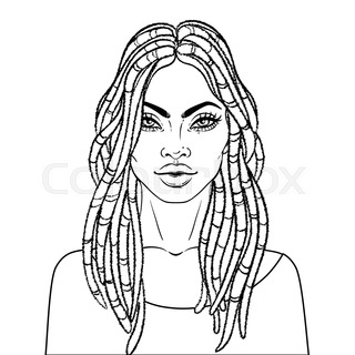 320x320 Black Women Faces. Great For Avatars, Hair Styles Of African