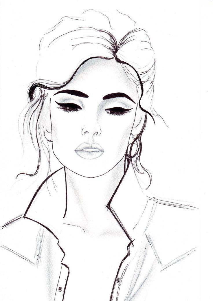 736x1040 Drawing Face Fashion Fashion Design Images