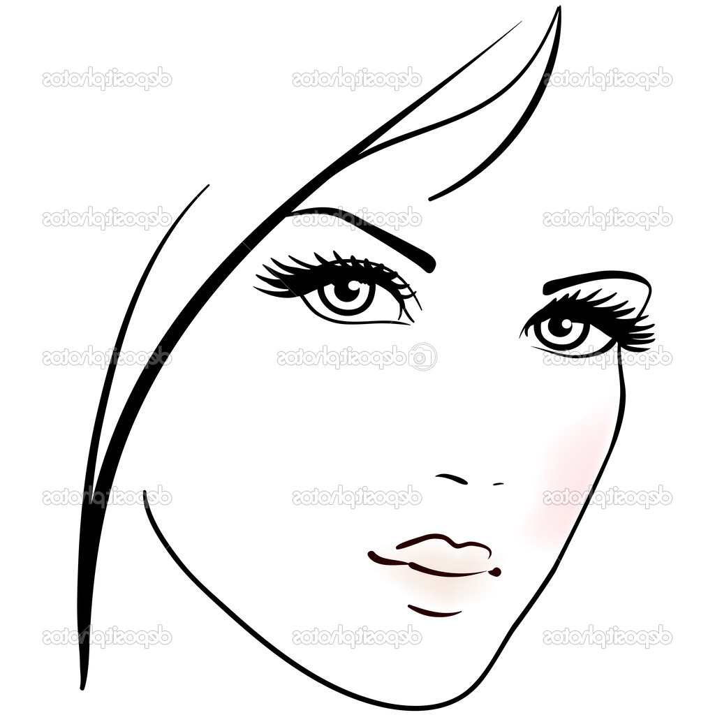 1024x1024 Drawing Of A Beautiful Woman Face Simple Sketches Of Beautiful