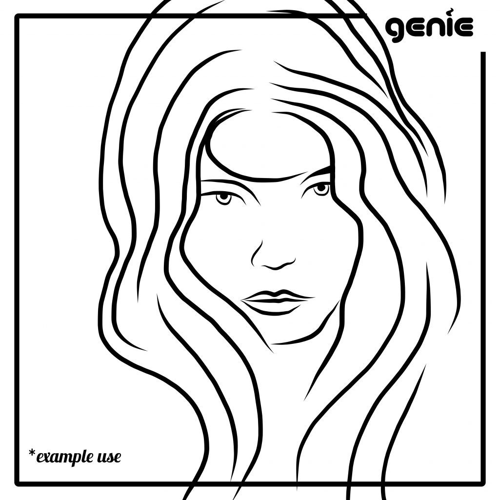 1025x1025 Fashion Women Model Faces Vector Graphic Illustration Hand Drawn