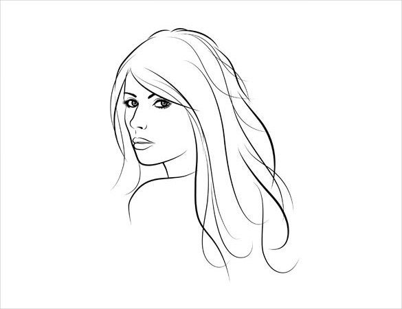 Womens Face Drawing At Getdrawings Com Free For Personal Use