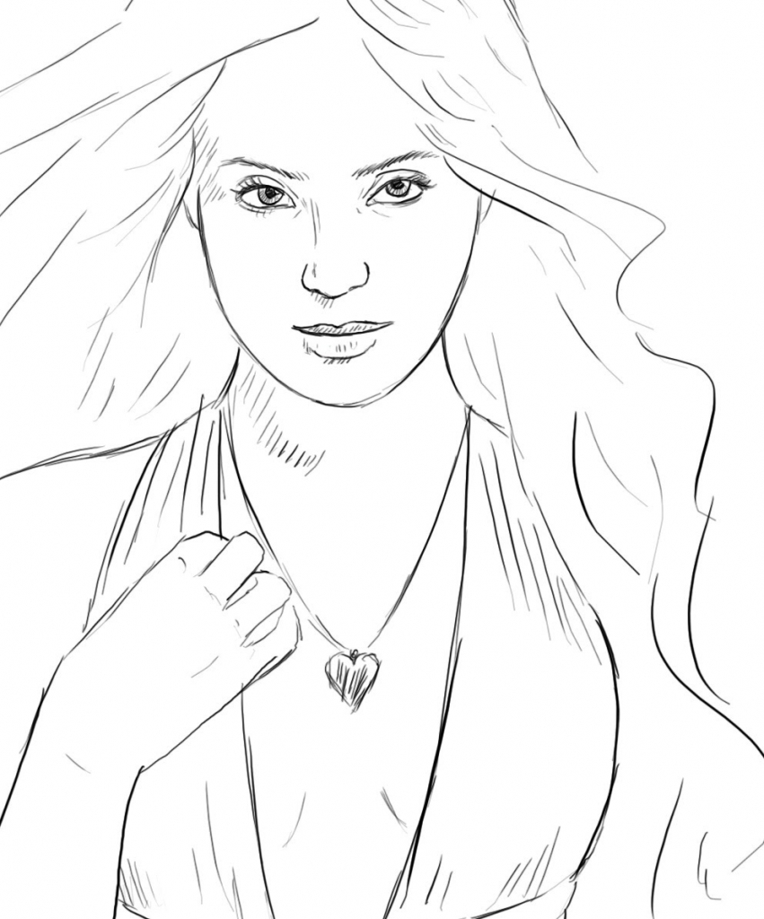 Womens Face Drawing At Getdrawings Com Free For Personal