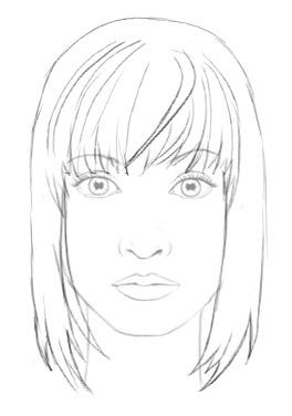 264x376 How To Draw Hair Female Sharenoesis