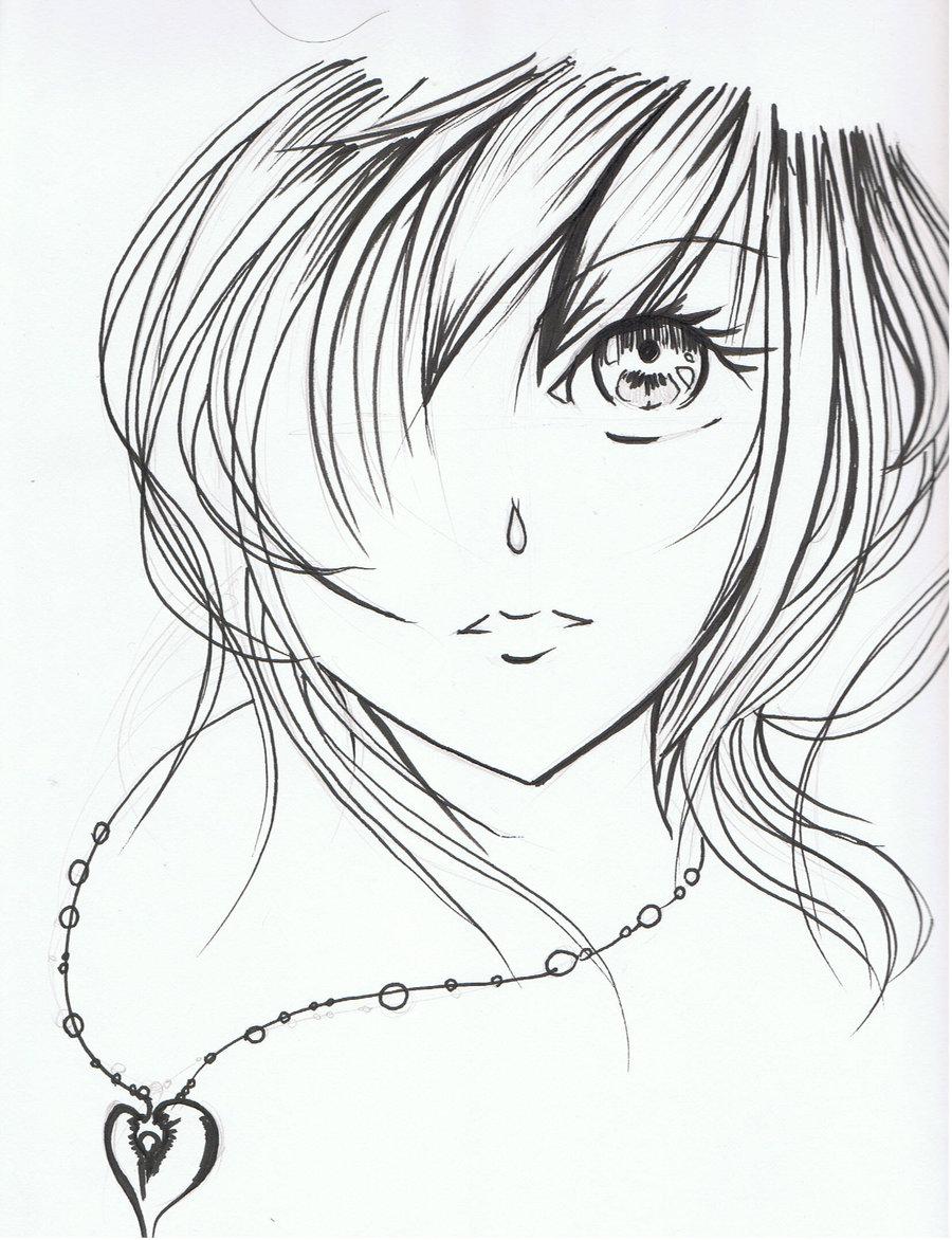 900x1172 Anime Girl Face Drawing Rrrr Girl Face Drawing