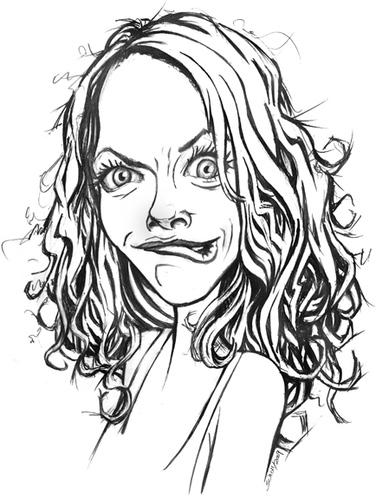 376x500 Cartoon Woman Face Group