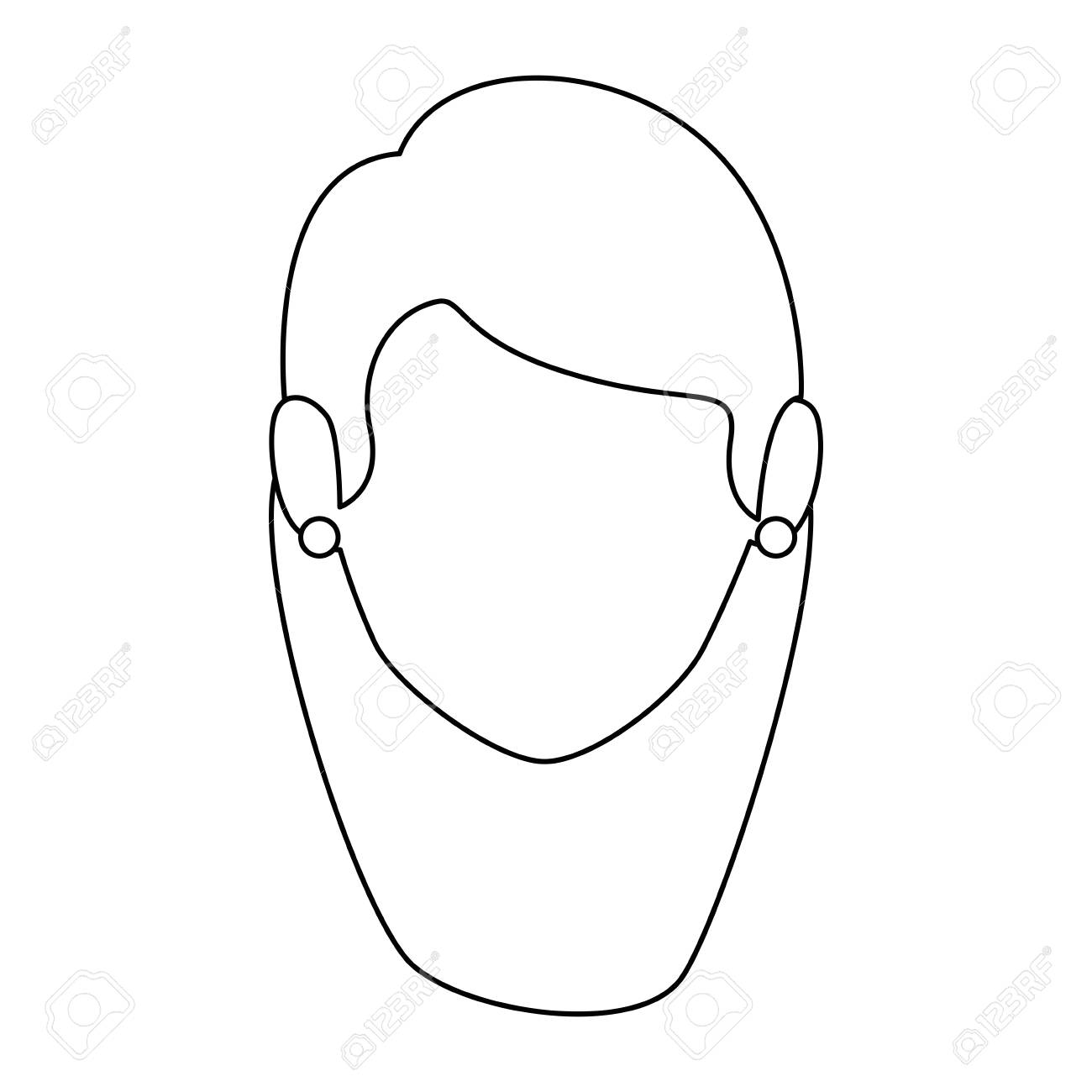 1300x1300 Isolated Women Face Icon Vector Illustration Graphic Design