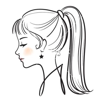 380x400 Women Face Illustration Woman Face Illustration Vector 255674