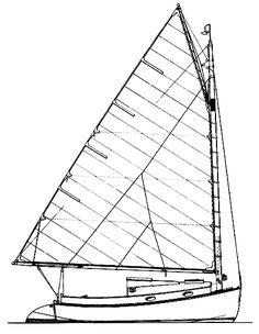 236x304 Lofting The Brewer Catboat Wooden Boat Trailer Sailer Diy