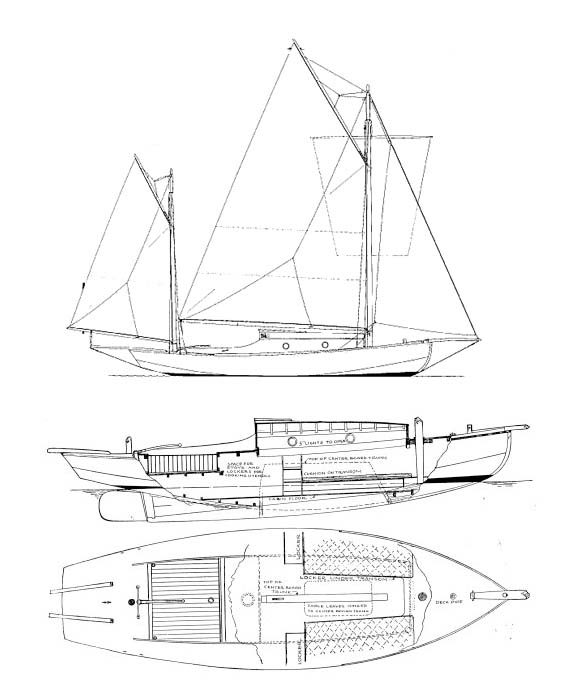 580x685 Sea Bird Yawl, Plans Available From The Wooden Boat Store Boat