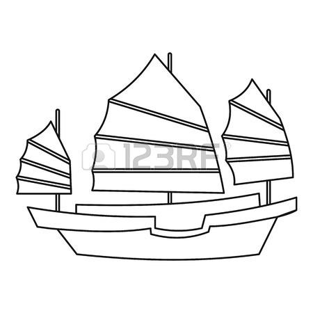 450x450 432 Hong Kong Boat Stock Illustrations, Cliparts And Royalty Free