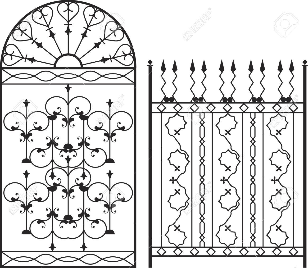 1300x1131 Wrought Iron Gate, Door, Fence, Window, Grill, Railing Design