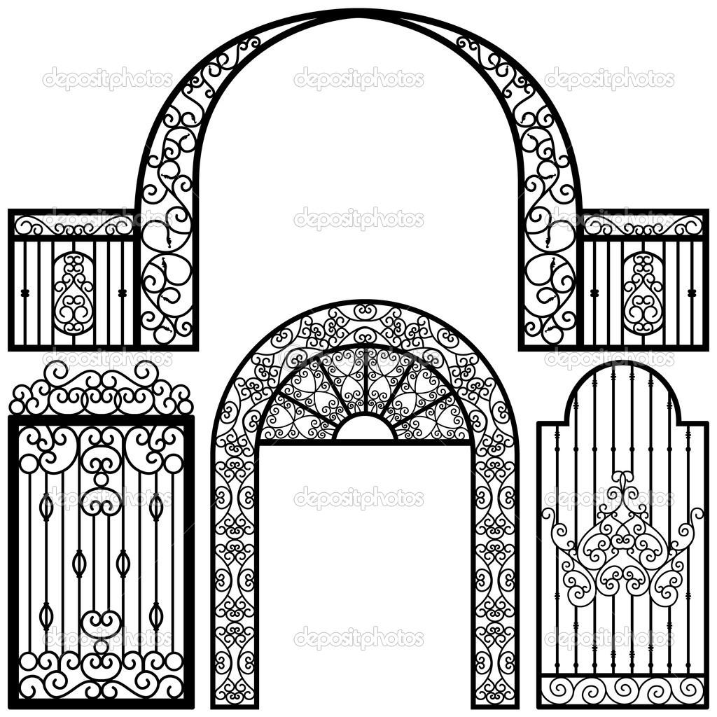 1024x1024 Wrought Iron Moon Gate