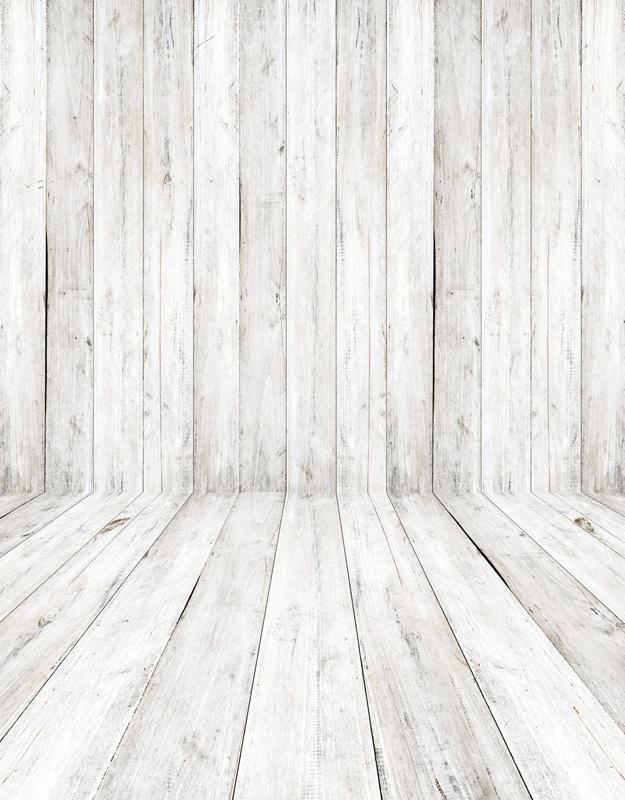 625x800 Custom Vinyl Cloth White Wooden Floor Photography Backdrops