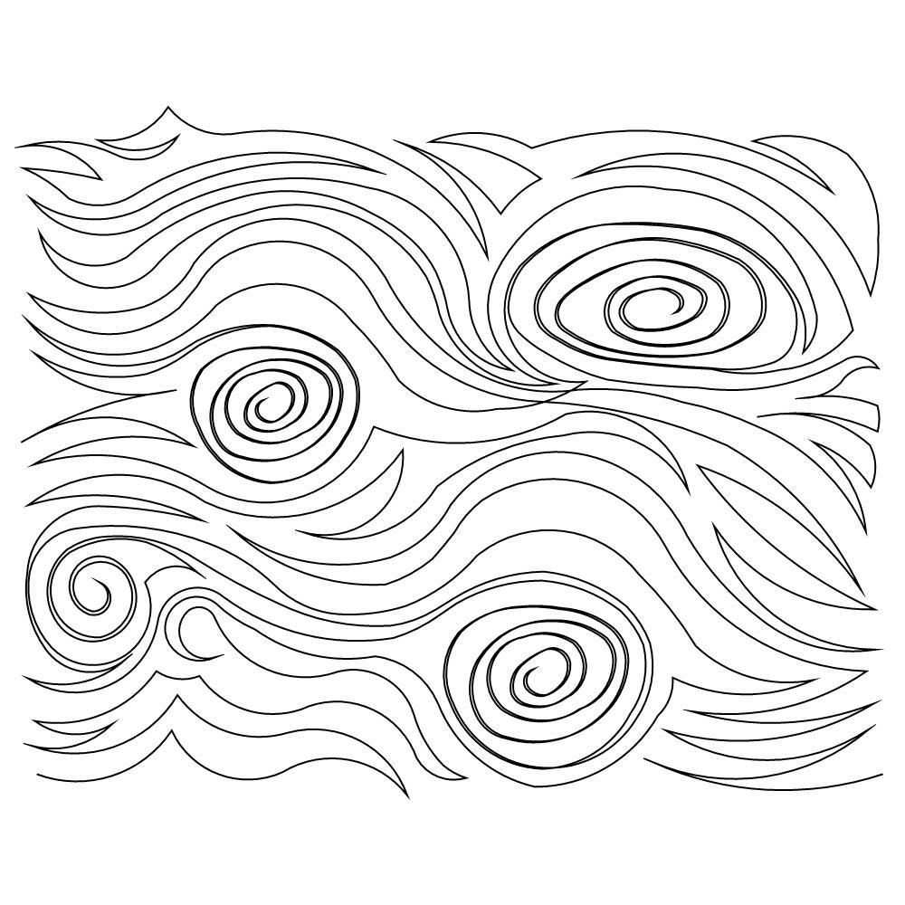 1000x1000 Wood Grain Pano 002 Edge To Edge Digital Quilting Patterns