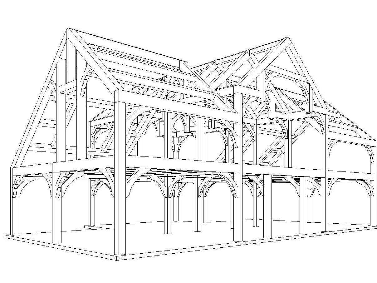 Wood House Drawing at GetDrawings.com | Free for personal use Wood ...
