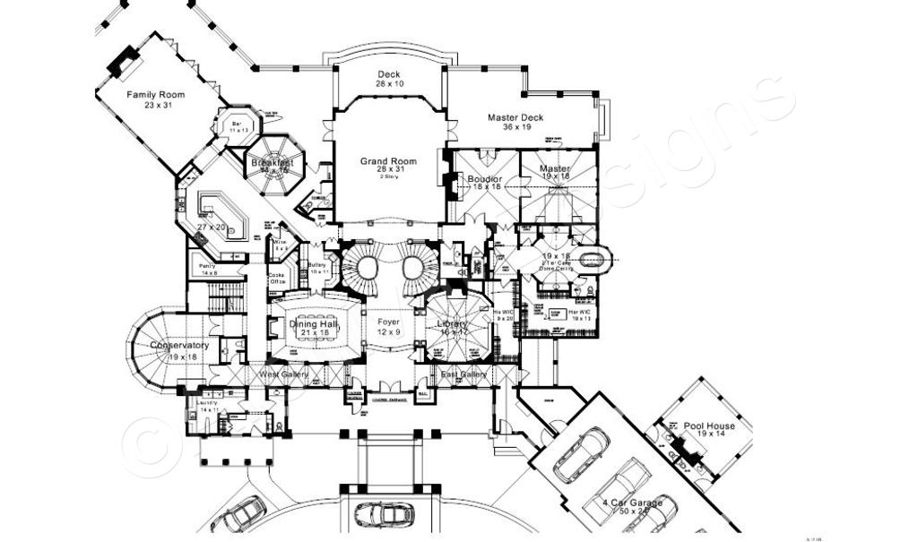 1024x605 Karol Wood Mansion House Plans Luxury House Plans
