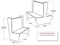 236x179 Beadboard Back Double Wood Booth