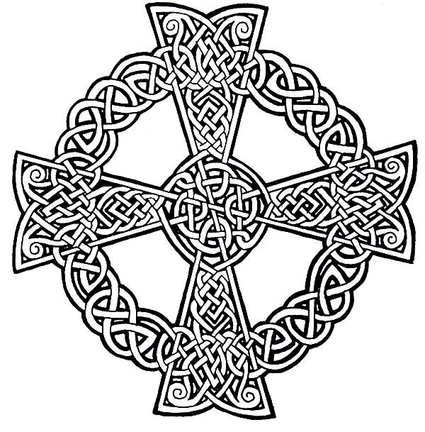 600x609 Drawing Celtic Cross Coloring Pages Best Place To Color Diy