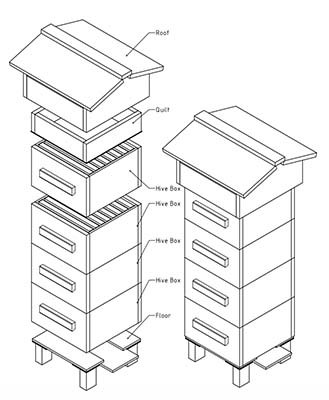 329x400 38 Diy Bee Hive Plans With Step By Step Tutorials (Free)